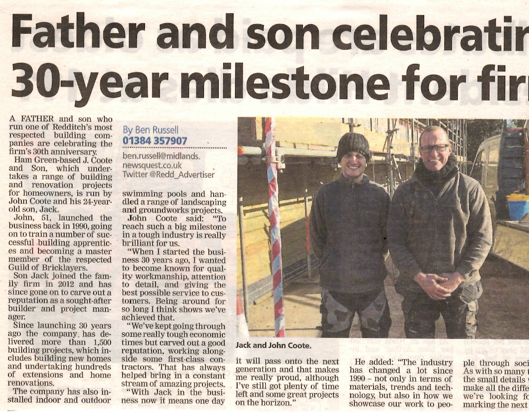 Jack Coote and Son in the press